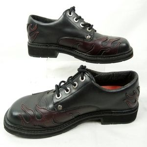 Harley Davidson Oxford Shoes Women Size 9 Leather